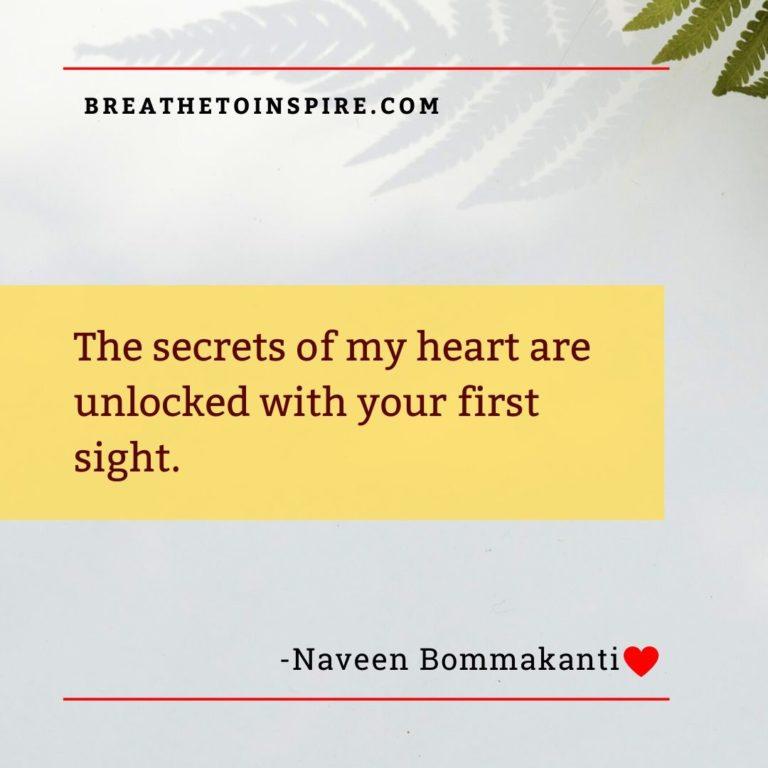 the secrets of my heart