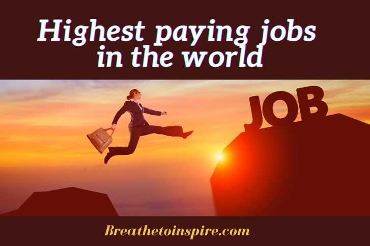 Career Guide: Best list of highest paying jobs in the world 2021(Top 10 Careers in different countries and industries)